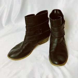 BP black leather booties size 8.5